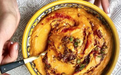 Sweet potato hummus with lime & spice