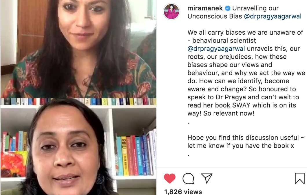 UNCONSCIOUS BIAS: Chai Time with Dr Pragya Agarwal